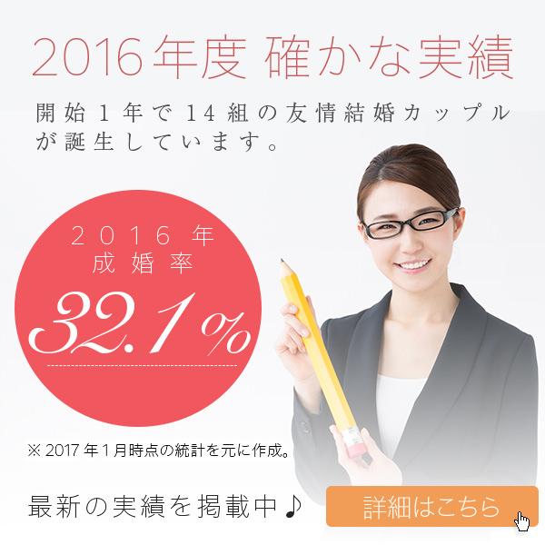 2016年度確かな実績 成婚率32.1%