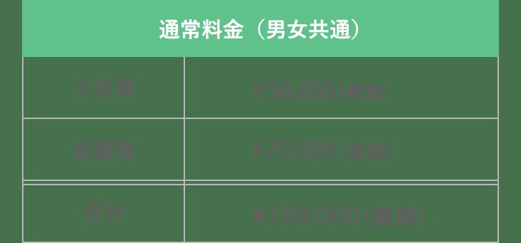 2019年 通常料金表